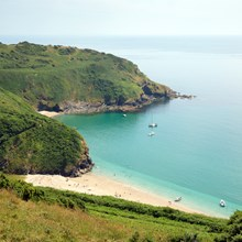 Lantic Bay Beach Near Fowey -Trelay Holiday Park Looe Cornwall .jpg