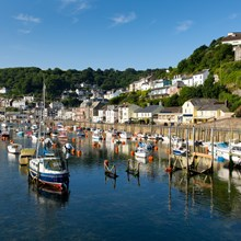 Looe Estuary a 10 minute drive from Trelay Holiday Park