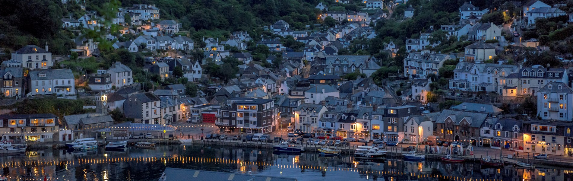 Looe Harbour by Night up Valley.jpg