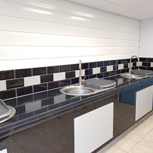 Washing up facilities at Trelay Park